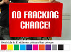 NO FRACKING CHANCE FABRIC BANNER PROTEST FLAG AVAILABLE IN 11 DIFFERENT COLOURS