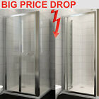 Bifold shower door enclosure glass screen  panel stone tray ,waste and riser kit