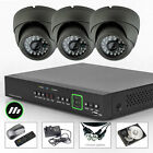 3 x Sony CCD Surveillance Colour Camera 4 Channel 960H CCTV System P2P 3G H.264