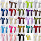 """150 pack 6"""" x 108"""" Satin Chair Cover Sash Bow Decor Wedding - 25+ Colors!"""