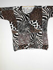 Patchwork Animal Print Cardigan Sweater all sizes Zegra Tiger African Ethnic new