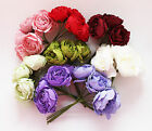 BUNCH OF 6 ARTIFICIAL FOAM PEONY ROSE WEDDING FLOWERS COLOUR FAST