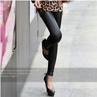 New Sexy Ladies Women Faux Leather  Pants Trouser Tights