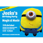 Personalised Childrens Birthday Party Invitations Despicable me Minions Dave