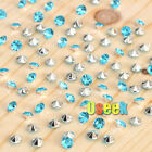 1000 Turquoise&Silver Diamond Confetti Wedding Party Table Scatter Crystal Decor
