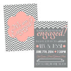 Personalised engagement party invitations SHE SAID YES PINK FREE ENVELOPES & DRA