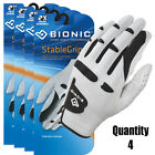 6 x BIONIC StableGrip Golf Gloves NEW Style - White Leather - Right & Left Mens