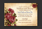 VINTAGE SHABBY CHIC STYLE  PERSONALISED WEDDING INVITATIONS