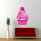 Large Strawberry CUPCAKE Vinyl Wall Art Stickers Decal Mural Kitchen kids Decor