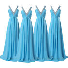 Formal Evening Long Gown Party Prom Ball Bridesmaid Dress Size6 8 10 12 14 16 18