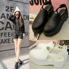 Gothic Women's Closed Toe Chunky Thick Sole Ankle Shoes Slingback Sandals Boots