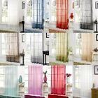 Plain Voile Net Slot Top Curtain Panel - 12 Colours