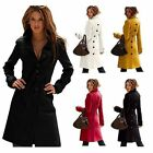 New Women Fashion Long Coat Wool Cashmere Blend Trench Coat Outwear Jacket Warm