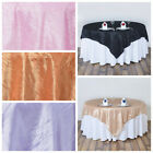 "90x90"" Crinkled TAFFETA Table OVERLAY Wedding Party Catering Linens with Texture"