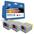 15 COMPATIBLE BROTHER LC1000 PRINTER INK CARTRIDGES  3 FULL SETS + 3 EXTRA BLACK