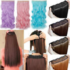 Cosplay Hair Extensions 3/4 Full Head One Piece Long Straight Curly 30 Color BB2