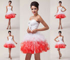 GK New Short Mini Floral Prom Cocktail Ball Evening Party Gown Homecoming Dress