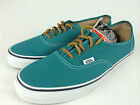 VANS. AUTHENTIC Men's or Women GREEN Canvas Shoes Mens US 9 9.5 10 10.5 11 12 13