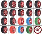 On-Road Racing Rally Metal Red Spoke Wheel Rim Tyre Tires 611 RC 1/10 HSP HPI