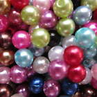 100 - 5000 Assorted Faux Round Pearl Beads 4 6 8 10 12 14mm Multi Cols UK Seller