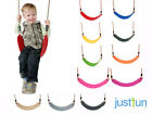 KIDS FLEXIBLE SWING SEAT WITH ROPES FOR CLIMBING FRAME PLAYGROUNDS PLAYHOUSE