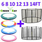 TRAMPOLINE REPLACEMENT PAD PADDING SAFETY NET ENCLOSURE SURROUND 8 10 12 13 ft