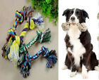 1Pc Cotton Braided Bone Rope Chew Knot Dog Toy,4 Size Random Color