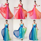 Sexy Lady Colorful Long Sexy Slim Bridesmaid Formal Evening Gown Party Hot Dress