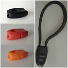 Plastic Cord Buckle Clip Survival Whistle for DIY Paracord Zipper Torch Lanyard