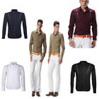 New 5 Color UK FAST SHIP Luxury Men Long Sleeve Business Casual Formal Fit Shirt