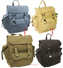 Retro Vintage Mens Ladies Military Army Rucksack Backpack Webbing satchel bag