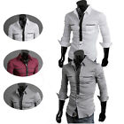 Unique Men Gorgeous Formal Casual Work Slim Fit Long Sleeve Fashion Dress Shirts