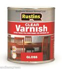 Rustins CLEAR POLYURETHANE VARNISH - Finish Choice  Gloss - Satin or Matt 250ml