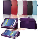 Folio Leather Stand Case Cover for Samsung Galaxy Tab 2 / Tab 3 7.0 7-inch Tablet