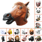 Adult Horse/Unicorn/Pig/Sheep/Panda/Chicken/Zebra/Batman/Maleficent Latex Mask