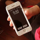 New Bling Diamond Full View Flip Leather Case Cover For iphone 5 5s 5c