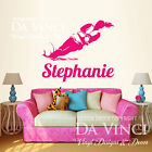 Water Ski Skiing Skier River Lake Wall Custom Girl Name Vinyl Wall Decal Sticker