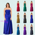 Royal Blue Shiny Satin Bridesmaids Dress Prom Gown Dress Lace up back SZ 8-22