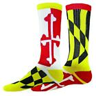 FLAG Maryland Flag Mismatch Crew socks Terrapins Lacrosse LAX terps elite