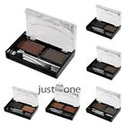 Brand New Lady Eyebrow Shading Powder Eye Shadow Palette w/ Brush 2 Colors Kit