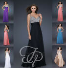 Sequin Bodice Formal Long Maxi Evening Bridesmaid Prom Dress 'Paris' sz 8- 18