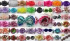 14 pcs  Frayed Shabby Rose Chiffon Hair Flowers for Headbands, Trim U pick Color