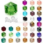 100pcs Approx Loose Cube Austria Crystal Spacer Beads For Jewelry Making 4mm