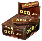 OCB Virgin Unbleached Slim King Size Cigarette Rolling Papers 5/10/20 Booklets