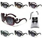 D1205-VP Womens DG EYEWEAR OVERSIZED BUTTERFLY VINTAGE RETRO SUNGLASSES +POUCH