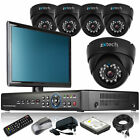 5 x Day Night Camera HD-MI 8 CH DVR CCTV Security Kit Complete Pack with Monitor