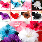 Cute Baby Toddler Elastic Crochet Feather Flower Headband Hairband Headdress WS