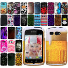Kyocera Hydro C5170 Design Rubberized PATTERN HARD Case Phone Cover Accessory