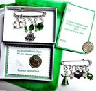 Luxury Lucky Green Irish Bridal Charm made with Swarovski Element Crystals
