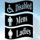 TOILET LADIES MEN DISABLED Sticker Vinyl BATHROOM DOOR GLASS WOOD